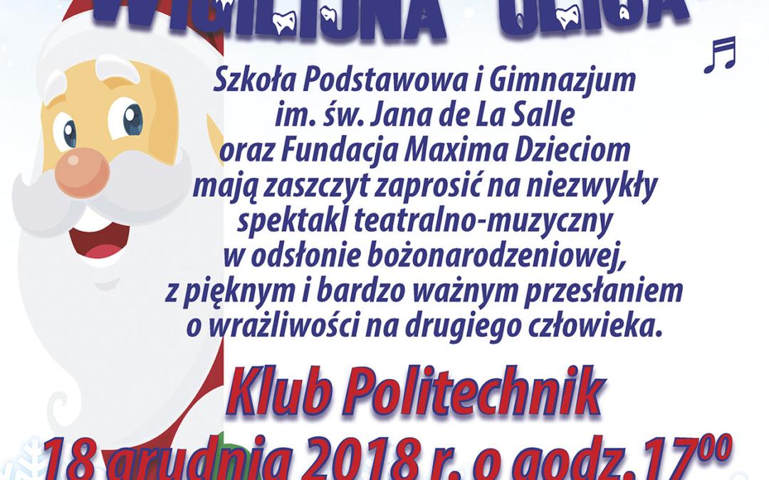 Zapraszamy na jasełka do Klubu Politechnik 18 grudnia 2018
