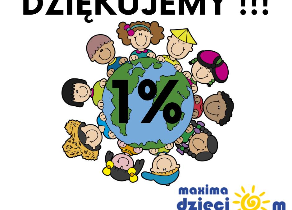 1% PODATKU – DZIĘKUJEMY!